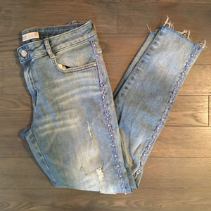 Zara Basic Original Jeans Denim Skinny Distressed